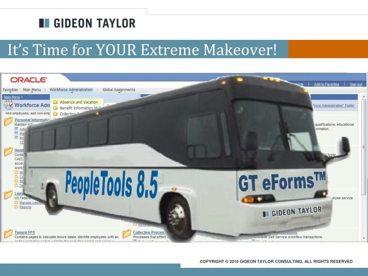 It's Time for YOUR Extreme Makeover!