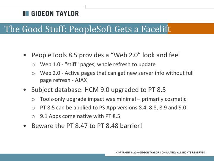 The Good Stuff: PeopleSoft Gets a Facelift