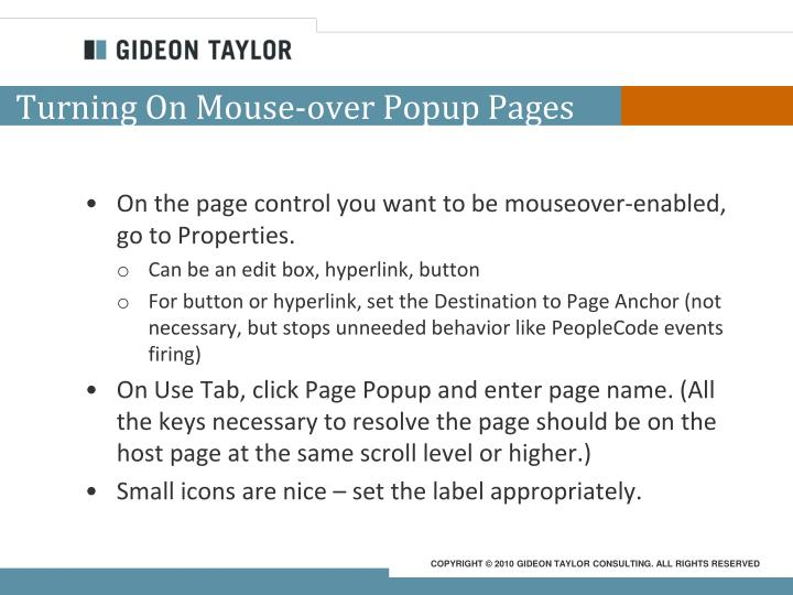 Turning On Mouse-over