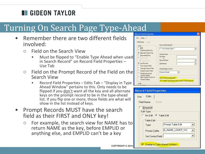 Turning On Search Page Type-Ahead