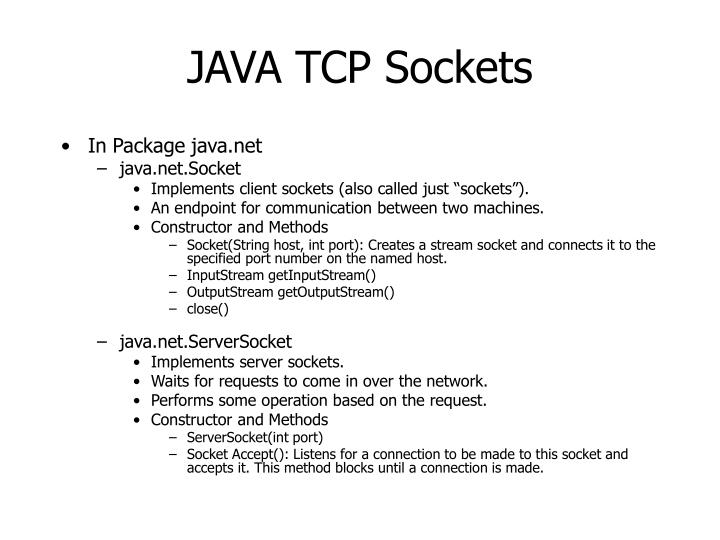 JAVA TCP Sockets