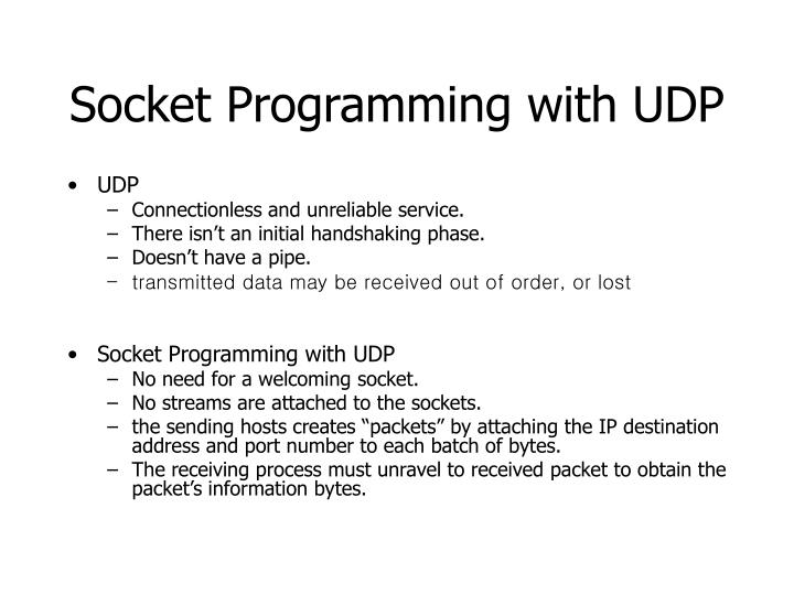 Socket Programming with UDP