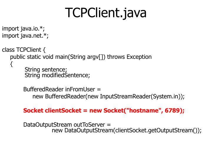 TCPClient.java