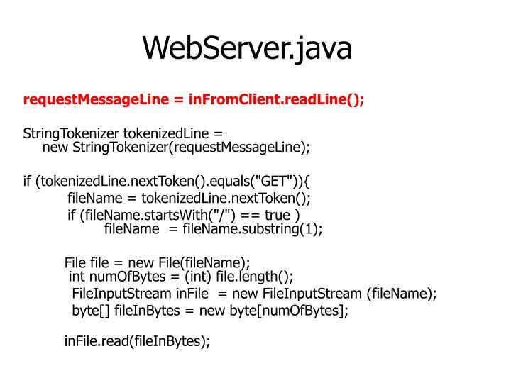 WebServer.java