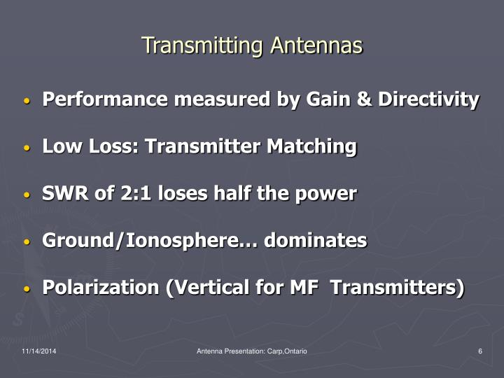 Transmitting Antennas