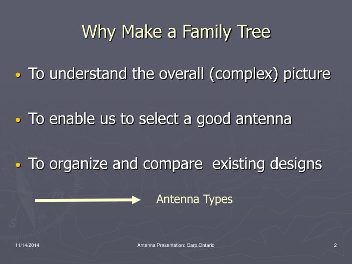 Why make a family tree