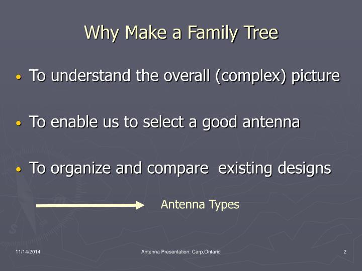 Why Make a Family Tree