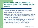 study context sb228 and sb899 introduced major changes into the wc system2