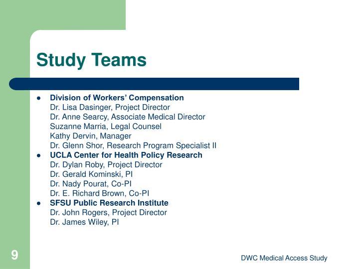 Study Teams