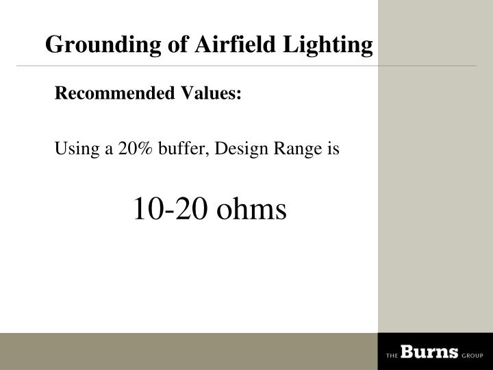 Grounding of Airfield Lighting