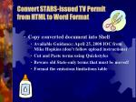convert stars issued tv permit from html to word format1