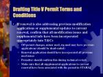 drafting title v permit terms and conditions2