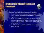 drafting title v permit terms and conditions5