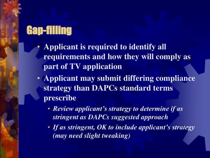 Gap-filling