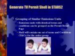 generate tv permit shell in stars21