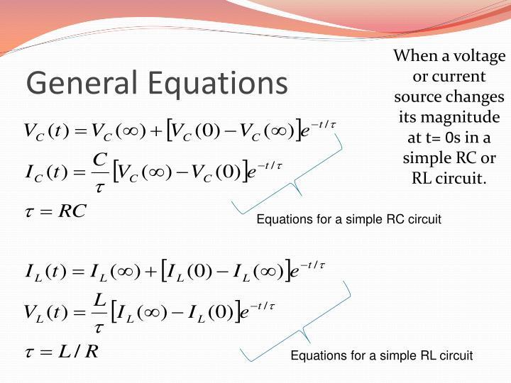 General Equations