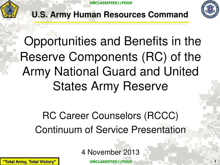 PPT - U.S. Army Human Resources Command PowerPoint ...