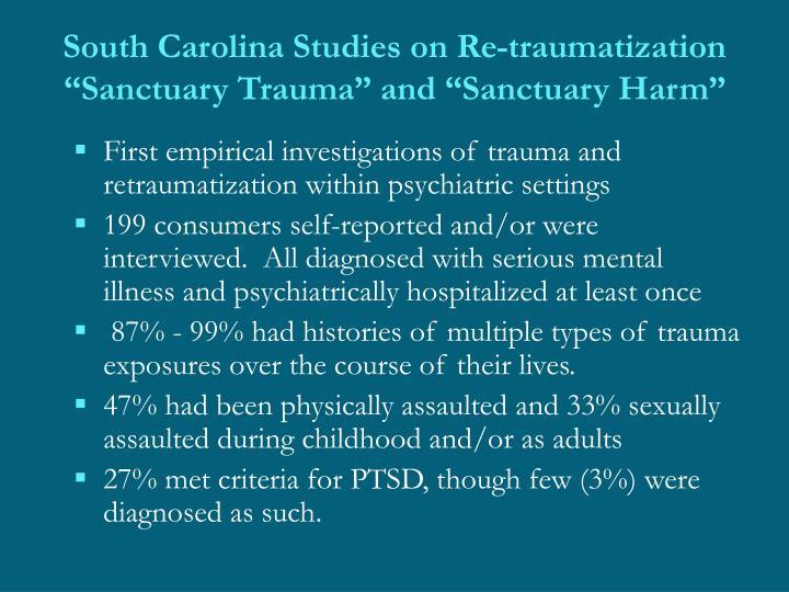 South Carolina Studies on Re-