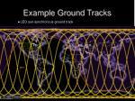 example ground tracks