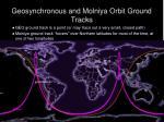 geosynchronous and molniya orbit ground tracks