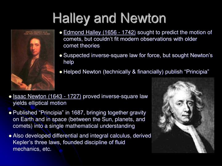 Halley and Newton