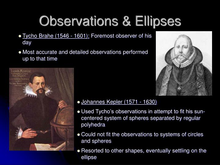 Observations & Ellipses