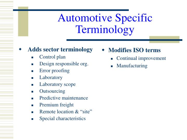 Adds sector terminology
