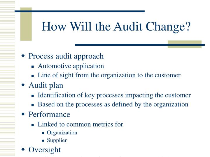 How Will the Audit Change?