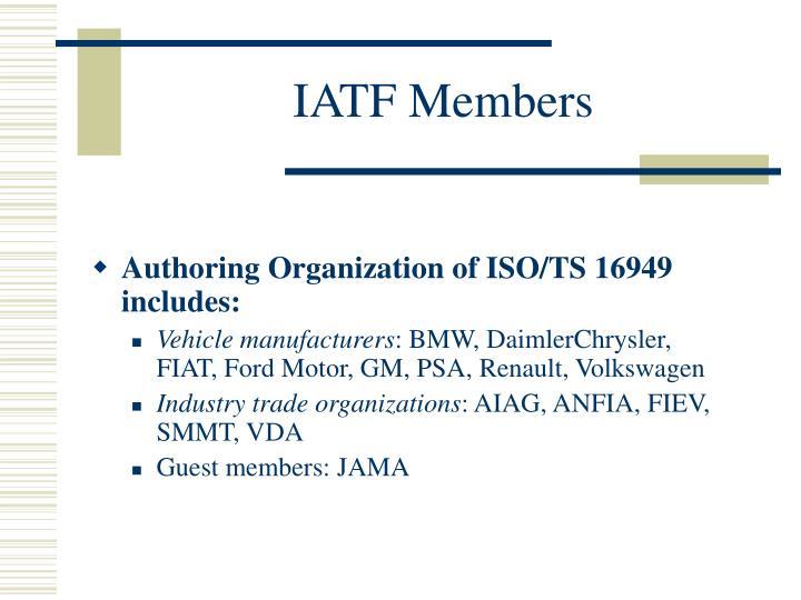 IATF Members