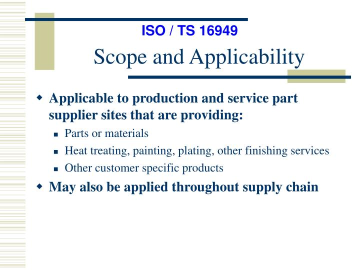 ISO / TS 16949