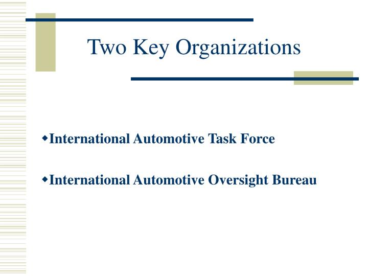Two Key Organizations