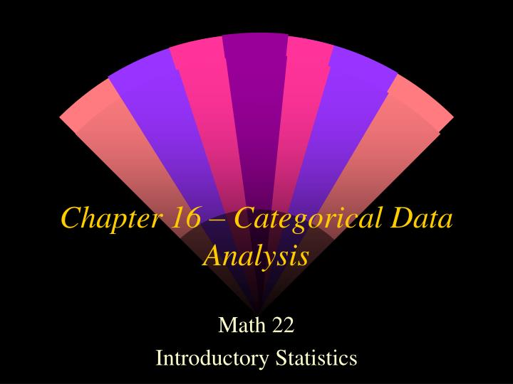 Chapter 16 categorical data analysis
