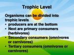 trophic level