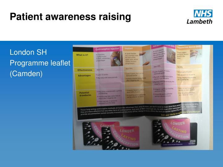 Patient awareness raising