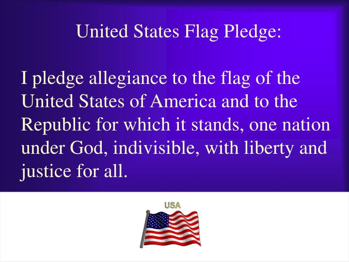 United States Flag Pledge: