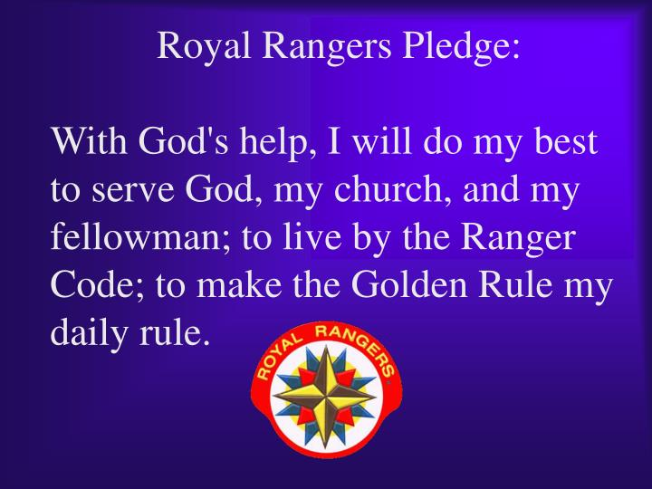 Royal Rangers Pledge: