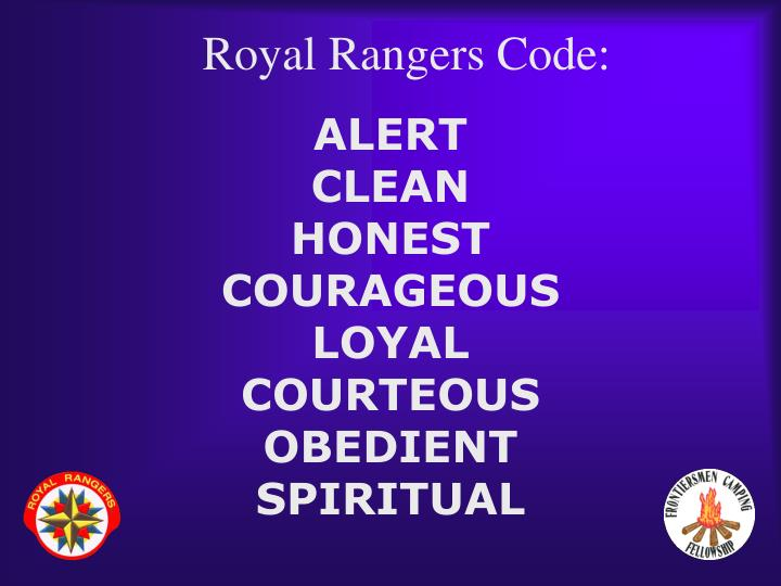 Royal Rangers Code:
