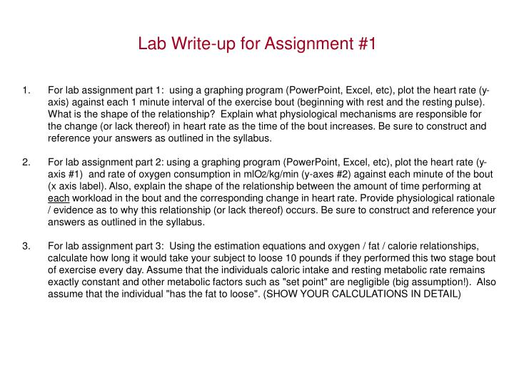 Lab Write-up for Assignment #1