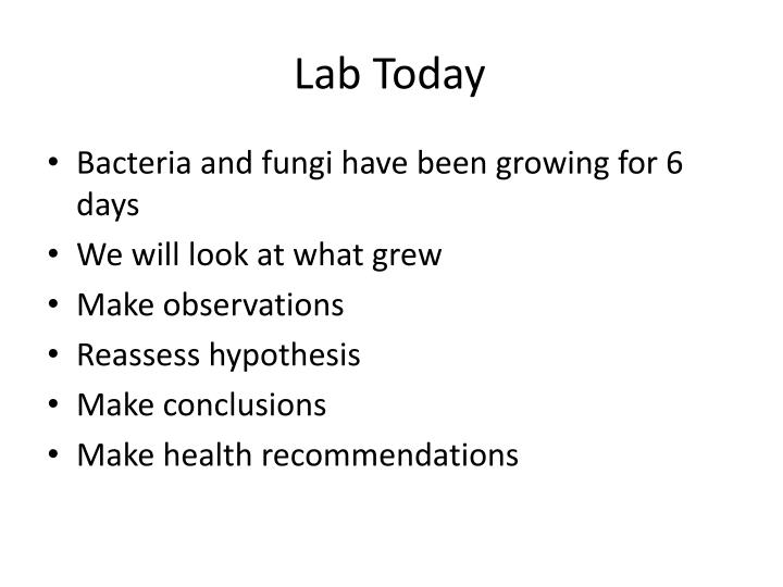 Lab Today