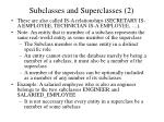 subclasses and superclasses 2
