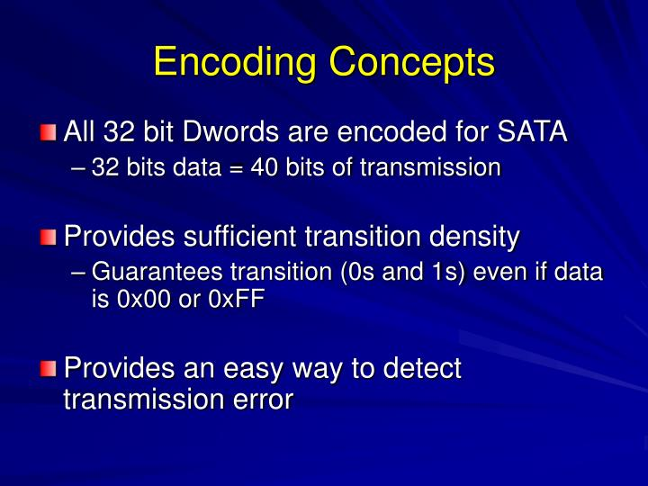 Encoding Concepts
