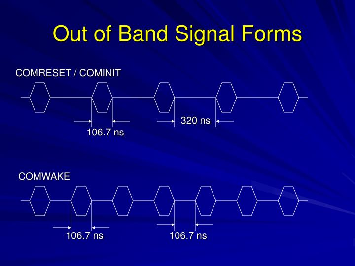 Out of Band Signal Forms
