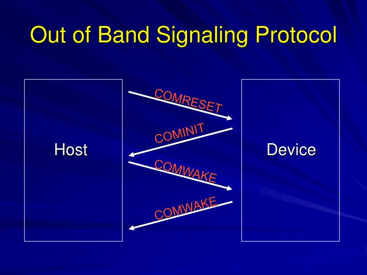 Out of Band Signaling Protocol