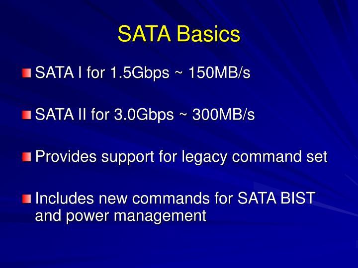 SATA Basics