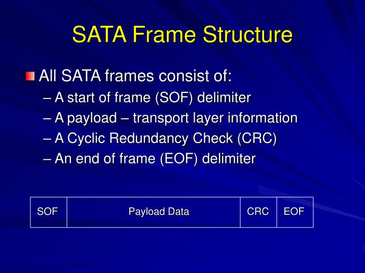 SATA Frame Structure