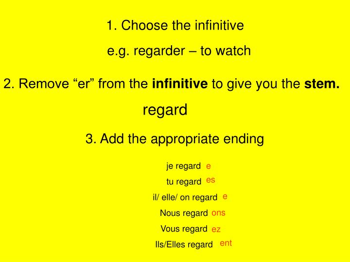 1 choose the infinitive