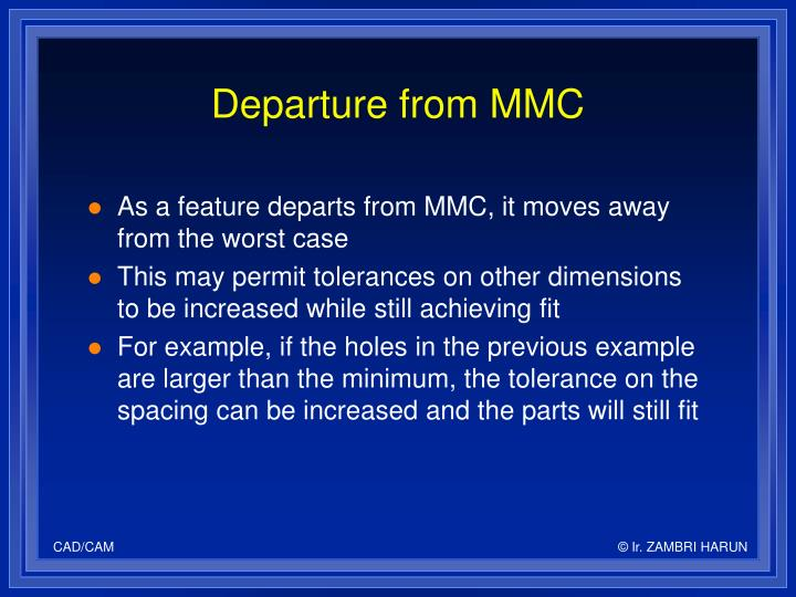 Departure from MMC