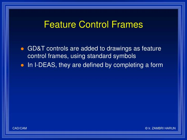 Feature Control Frames