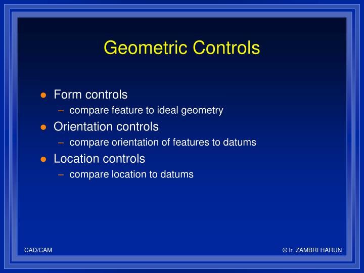 Geometric Controls