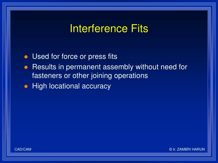 Interference Fits